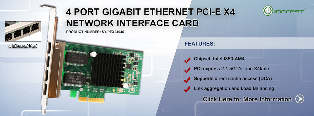 4 Port Gigabit Ethernet PCI-e x4