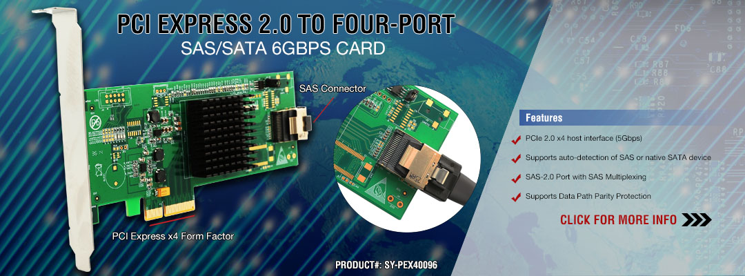 PCI EXPRESS 2.0 TO FOUR-PORT
