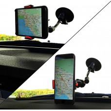 Universal Car Clip Holder for Smartphones, GPS, and MP3/MP4 Player. Adjustable Arm Width. Goose Neck Design with 360-degree Rotation.