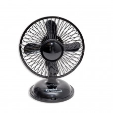 USB Desk Fan, USB Powered with On/Off Switch, Black Color