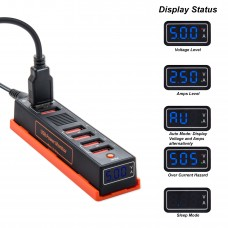 USB Fast Charging Power Strip with Power Monitor