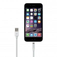 6.5 ft Flat Lightning to USB2.0 Data and Charging Cable