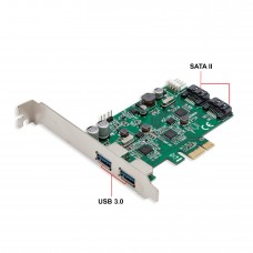 2 Port USB 3.0 and 2 Port SATA III PCI-e 2.0 x1 Card