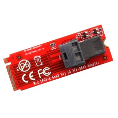 U.2 - MiniSAS to M.2 M-Key NVMe SFF-8639 Adapter