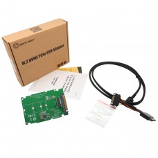 M.2 PCIe I/F NVMe SSD to U.2 (SFF-8639) 2.5-Inch SSD Adapter with Cable