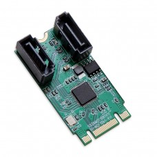 M.2 B+M Key 22x42 PCIe To 2 Port SATA III RAID Adapter Card