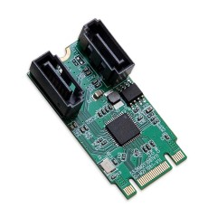 M.2 B+M Key 22x42 PCIe To 2 Ports SATA 6 G III Adapter Card
