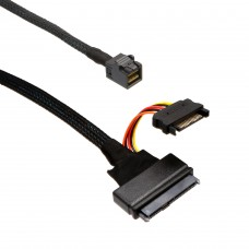 U.2 (SFF-8639) NVMe PCIe  to MiniSAS (SFF-8643) SSD Cable