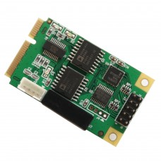 Full Size Mini PCIe card or USB 2.0 1 Port Serial DB9  RS232 / 422 / 485 Adapter