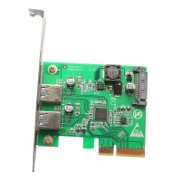 2 Port USB 3.1 Type A PCI-e 2.0 x4 Controller Card