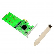 4 Port M.2 to PCI-e x2 B or B+M Key Adapter Card