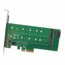 M.2 M-Key and 1x M.2 B-Key PCI-Express 2.0 X4 Convertor Card