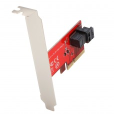 "U.2 - MiniSAS to PCI-e 3.0 x4 2.5"" NVME SFF-8639 Adapter Card"