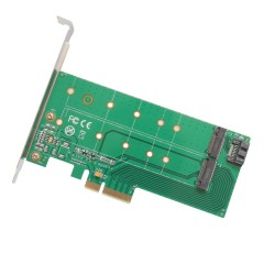 PCI-Express 2.0 x4, 1x M.2 M-Key and 1x M.2 B-Key Card