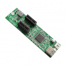 1 to 2 Ports PCI-E x1 Extension Board Switch Multiplier Hub Riser Card with USB 3.0 Cable