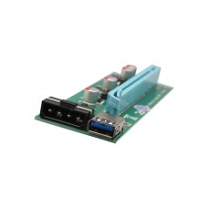4 port PCI-E x1 Transfer adapter to Powered x16 Riser Adapter Card USB 3.0 Extension Cable