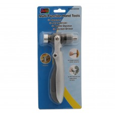 Multi-Function Hand Tools. Serves as Hammer, Ratcheting Screwdriver, Socket Wrench, and Bottle Opener.