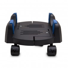 "Extra Wide Plastic PC Floor Stand for ATX or E-ATX Case with Adjustable Width  from 7"" to 12"" with Caster wheels"