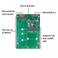 USB 3.1 to M.2/mSATA SSD Adapter