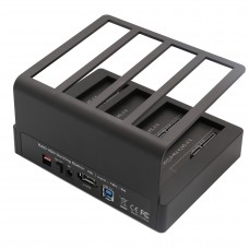 USB 3.0 or eSATA 4 Bay HDD Dock with PC Less Cloning function