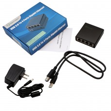 Usb 3.0 to 4 Port Gigabit Ethernet Network Adapter