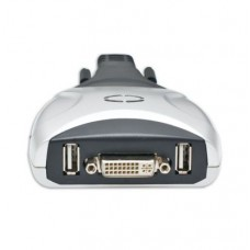 2 Port DVI KVM Switch with USB 2.0 and Audio Support
