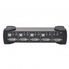 4 Port DVI and USB 2.0 KVM Switch with Audio support