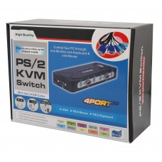 4 Port PS/2 VGA KVM Switch