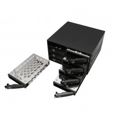 "Full Metal 8 Bay 2.5"" SATA HDD & SDD Mobile Rack MiniSAS Interface for 5.25"" Drive Bay"