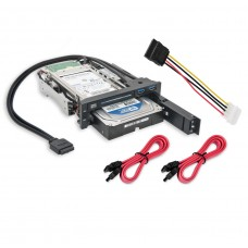 "5.25"" Bay Drive Tray Less Mobile Rack for 3.5"" and 2.5"" SATA III HDD with extra 2 port USB 3.0"