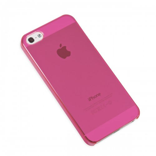 iPhone 5, Hard Cover Case (Neon Pink Color) with Screen