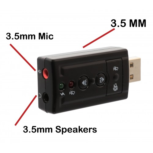 USB 2 0 External Stereo Sound Adapter with Optical SPDIF Output