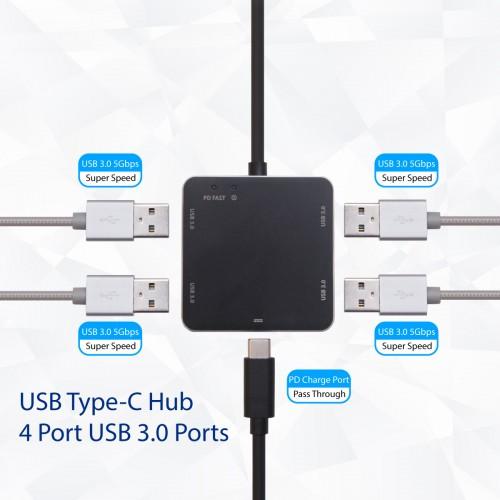 USB 3 1 Gen 1 Type-C Mini Hub -USB 3 0 Type A Hub / US PD