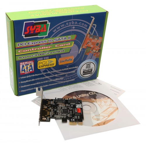 IO Crest SD-LP-PEX2IR Low Profile 2 Port SATA II PCIe 1.0 x1 Card