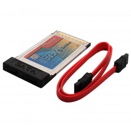 2 Port SATA PCMCIA Card