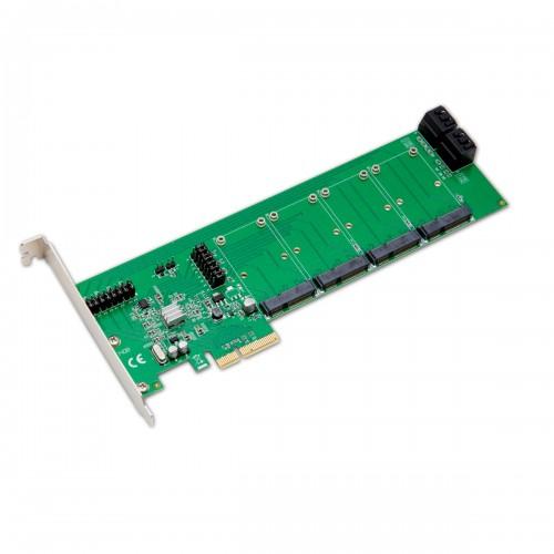 4 Port mSATA PCI Express 2 0 x4 Raid Controller Card
