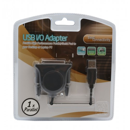 Syba SD-USB-DB25 USB 2.0 to Parallel DB25 Port Adapter Cable