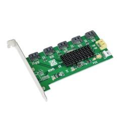 + SATA 6G SYBA SI-PEX50065 PCIe x1 to M.2 NGFF SybaSI-PEX50065 with Standard /& Low Profile Brackets; RAID HDD//SSD