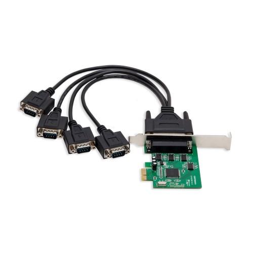 Syba SI-PEX15038 4 Port DB9 Serial PCI-e x1 Card