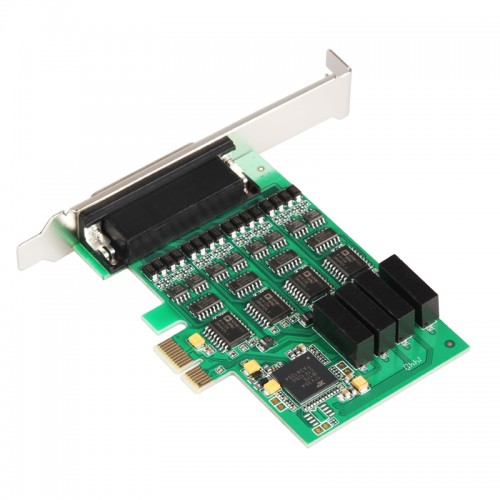 Syba SI-PEX15041 8PORT PCI-E Card RS-232 Serial Revision 2.0 with EXAR CHIPSET