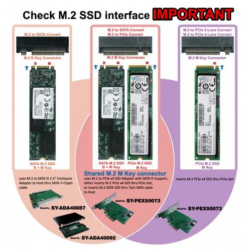 M2 NGFF SSD To SATA III 25 Enclosure Adapter