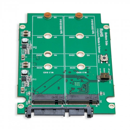 SSD Dual Port RAID Card Enclosure SATA III to M.2 NGFF