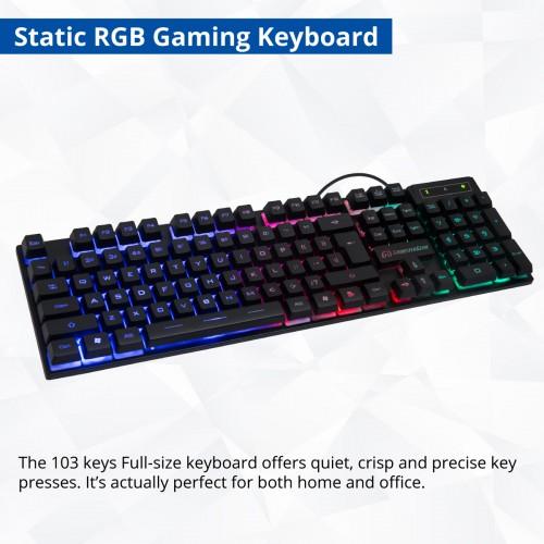 pc gaming rgb accessories starter kit gaming keyboard gaming mouse gaming headset. Black Bedroom Furniture Sets. Home Design Ideas