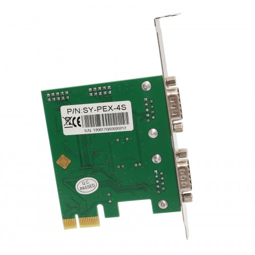 Syba SY-PEX-4S 4 Port DB9 Serial PCI-e x1 Card