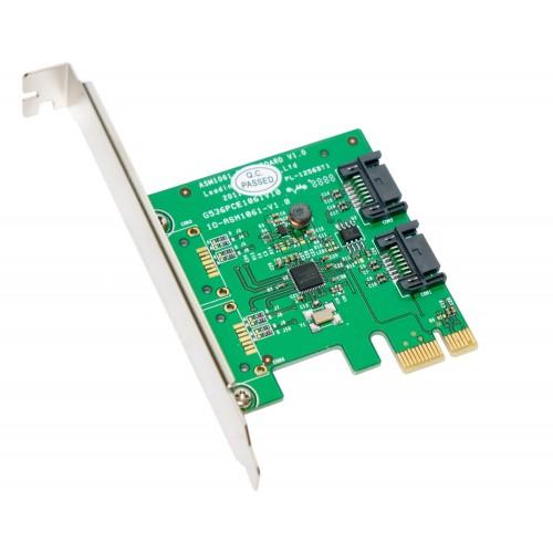 2 Port SATA III PCI Express 2 0 x1 Controller Card
